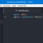 Windows10にStack+ATOMのHaskellの環境構築