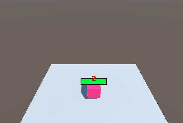 Unity5で、ダメージ表示とヘルスバーを作成する