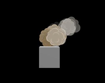 Unityでアニメ調の煙パーティクル