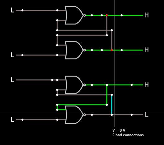 Falstad's Curcit Simulatorでデジタル回路の書き方(注意点)